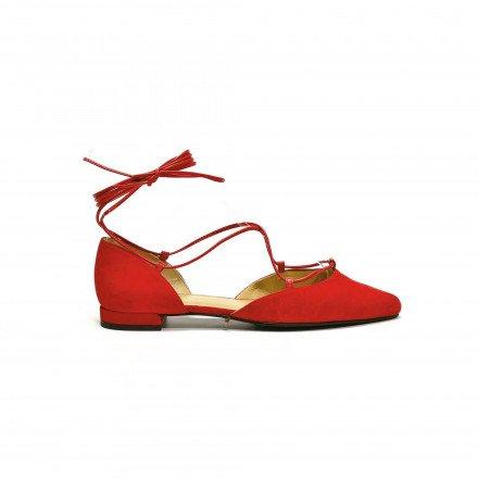 Gilligan Ballerines rouge Stuart Weitzman