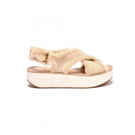 Malabar sandales fourrure Flamingos