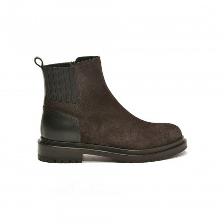 75950 Boots plates gris Sergio Rossi