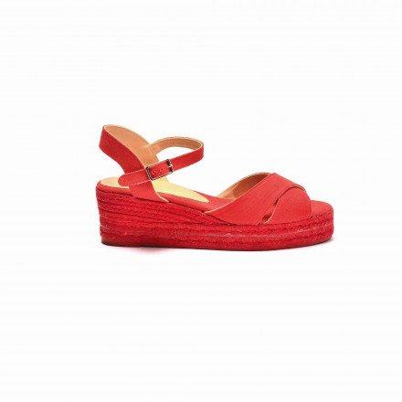 Blaudell sandales Cordes rouge Castañer