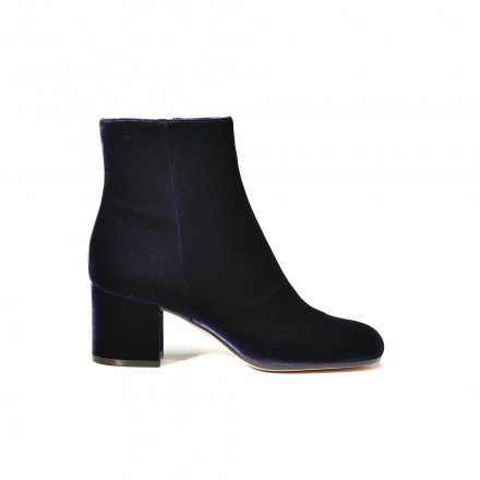 Margaux Boots velours Bleu nuit Gianvito Rossi