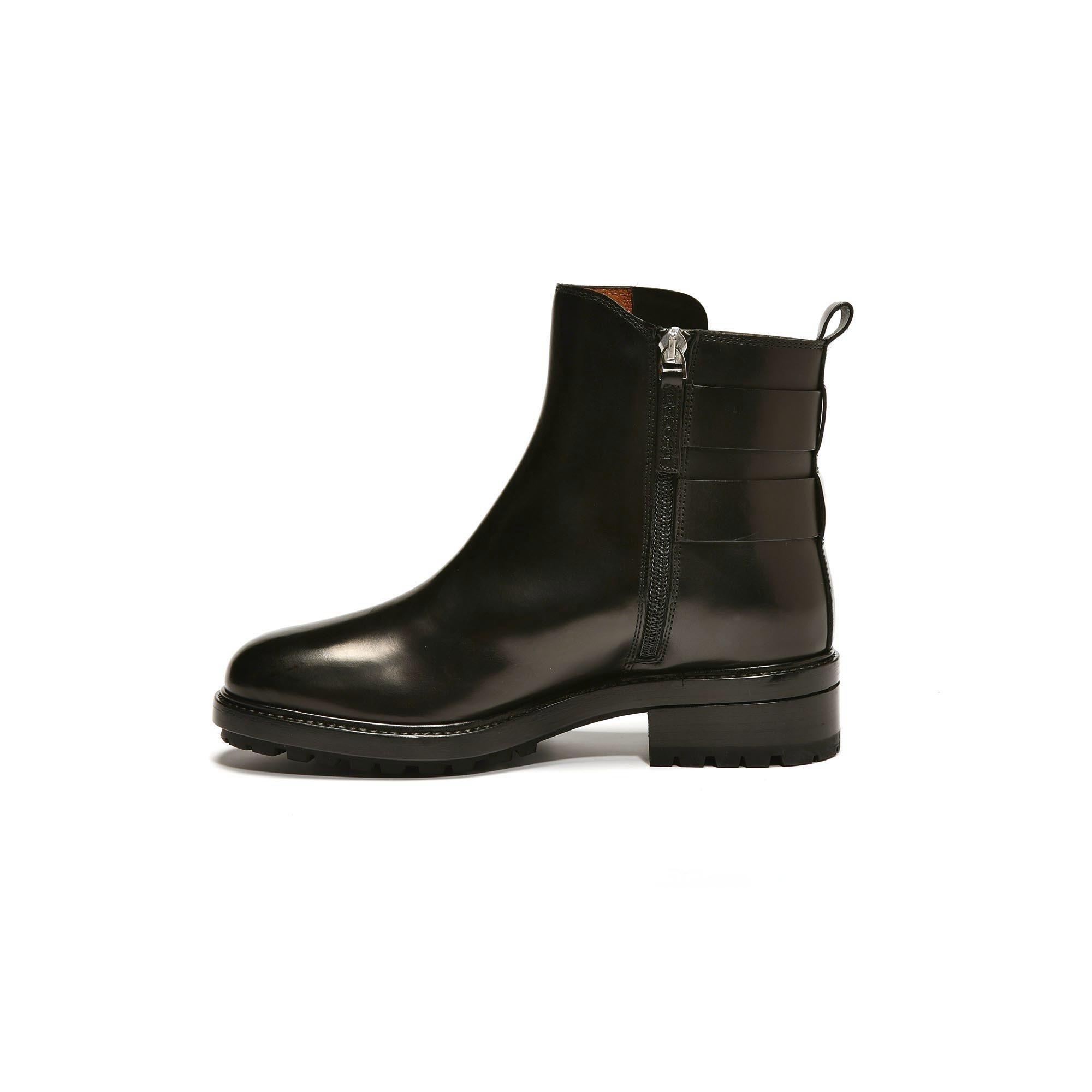 3453  Boots noires pattes Sartore