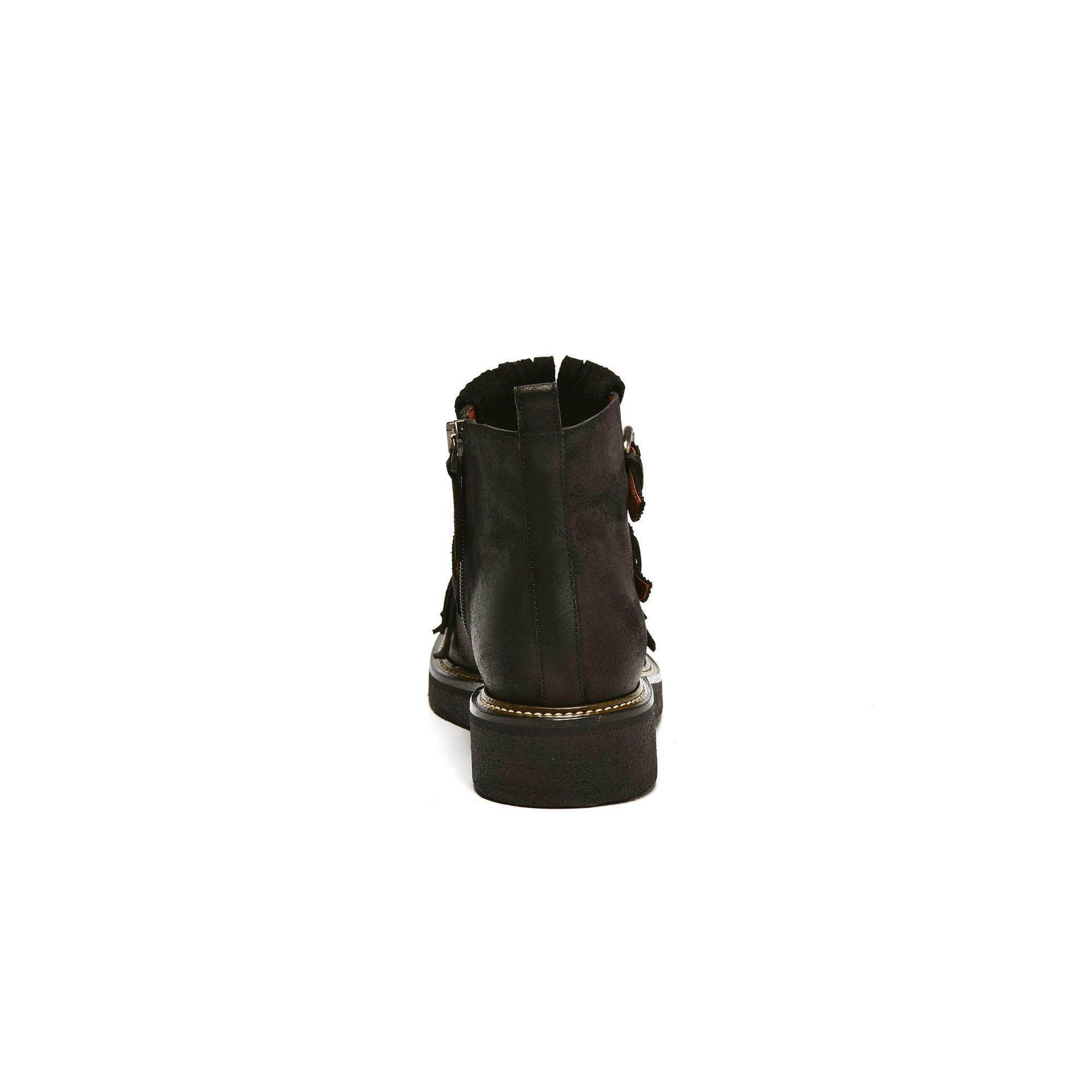 SX 865 Boots franges noires Sartore