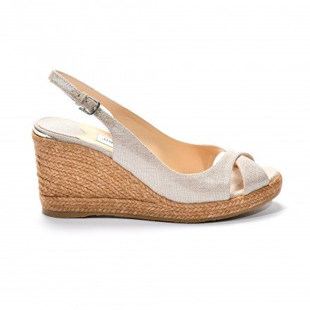 Amely 80 lin naturel Silver Jimmy Choo