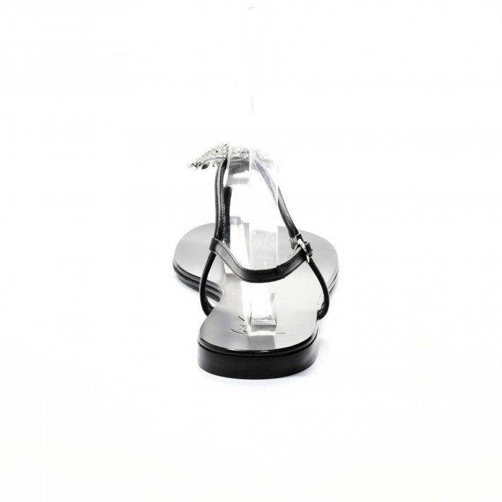 E900127 Sandales noir bijour Giuseppe Zanotti