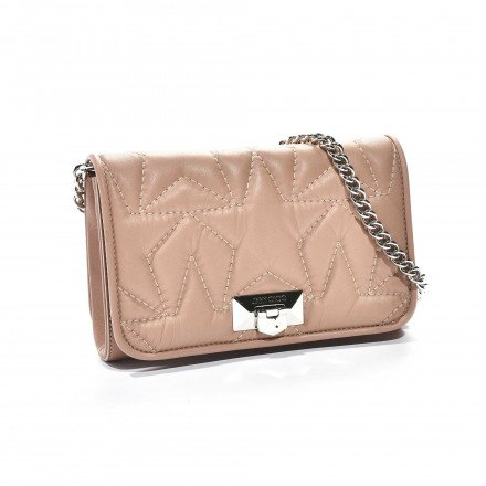 Helia clutch pink jimmy choo
