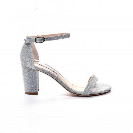 Nealynude sandale argent Stuart Weitzman
