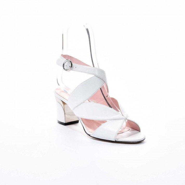 Brume sandale blanche Violet Tomas