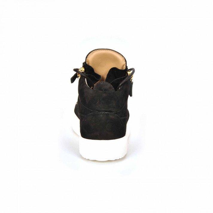May basket haute noire/or semelle blanche Giuseppe Zanotti