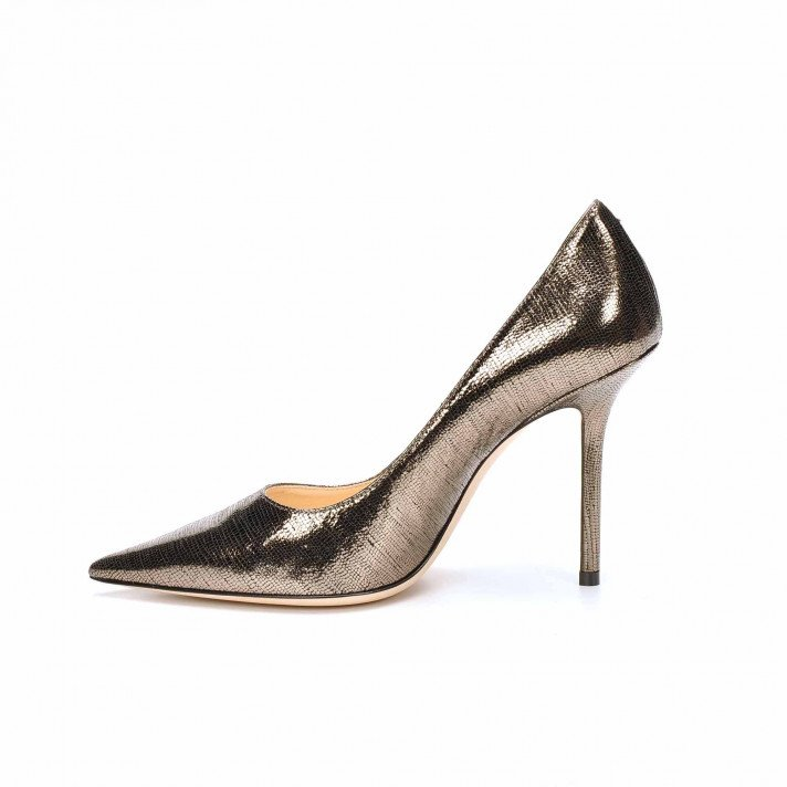 LOVE 100 imprimé lezard ANTHRACITE JIMMY CHOO