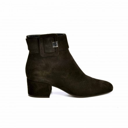 A85850 BOOTS SUEDE NOIRE SERGIO ROSSI