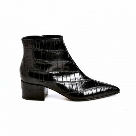 A85430 BOOTS PLATES NOIRES SERGIOROSSI