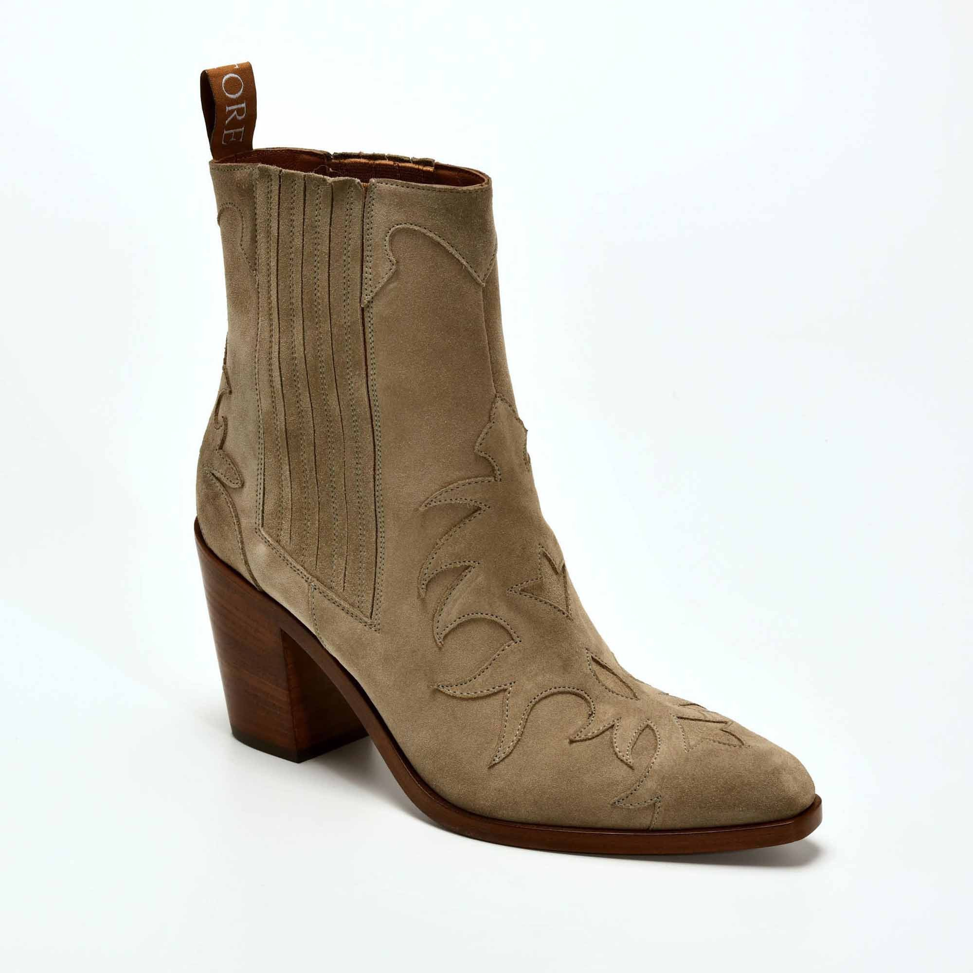 SR3265 BOOTS FLAMMES GRIS TAUPE SARTORE