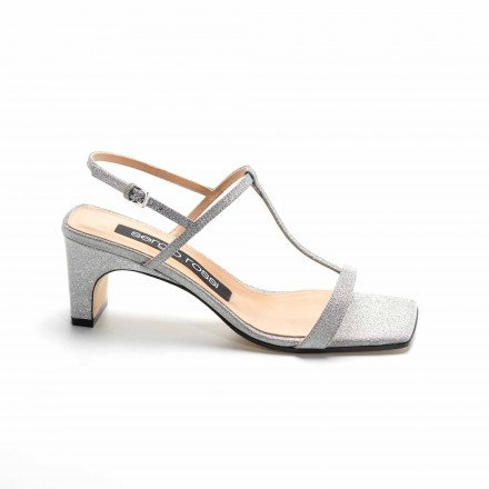 A88500 SANDALES GLITTER ARGENT SERGIO ROSSI