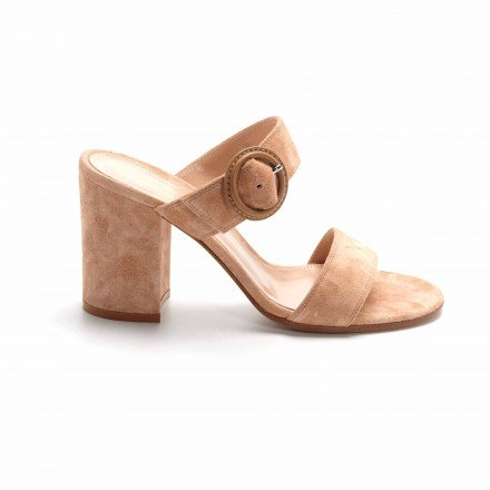 G13540 BETTY MULES NUDE BEIGE GIANVITO ROSSI