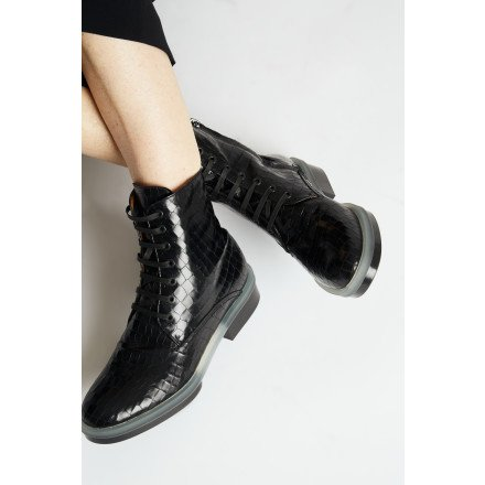 ROBYN BOOTS LACATS CROCO CLERGERIE