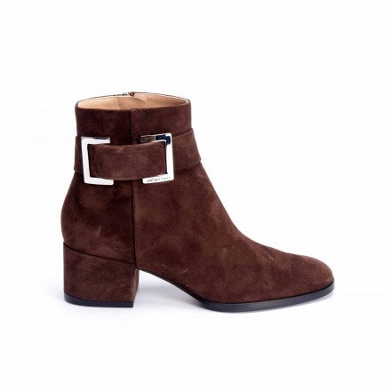 A 88930 BOOTS CHOCOLAT BOUCLE SERGIO ROSSI