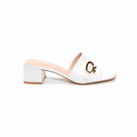 G18150 MULES BLANCHES GIANVITO ROSSI