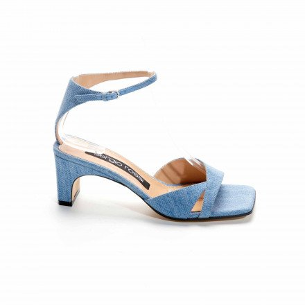 A91101 SANDALES BLEUES JEANS SERGIO ROSSI