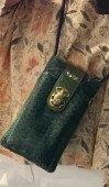 ETUI TELEPHONE DOUBLE MARCUS BLEU CANARD CLARIS VIROT