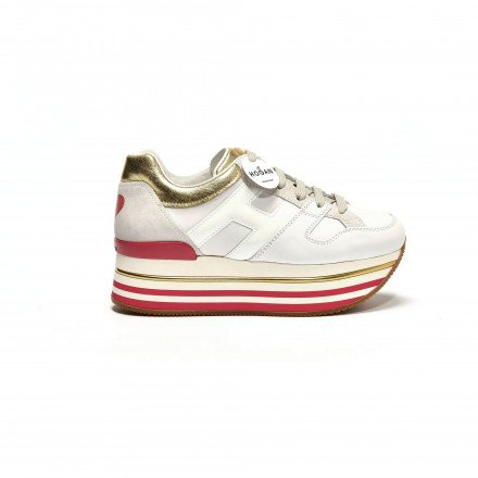 HXW4030 Maxi blanc/rouge Hogan